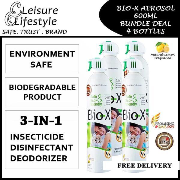 Bio-X Aerosol Insecticide 600ML (Effective Against Virus and Bacteria) Bundle Deal Bio X [4 Bottles]