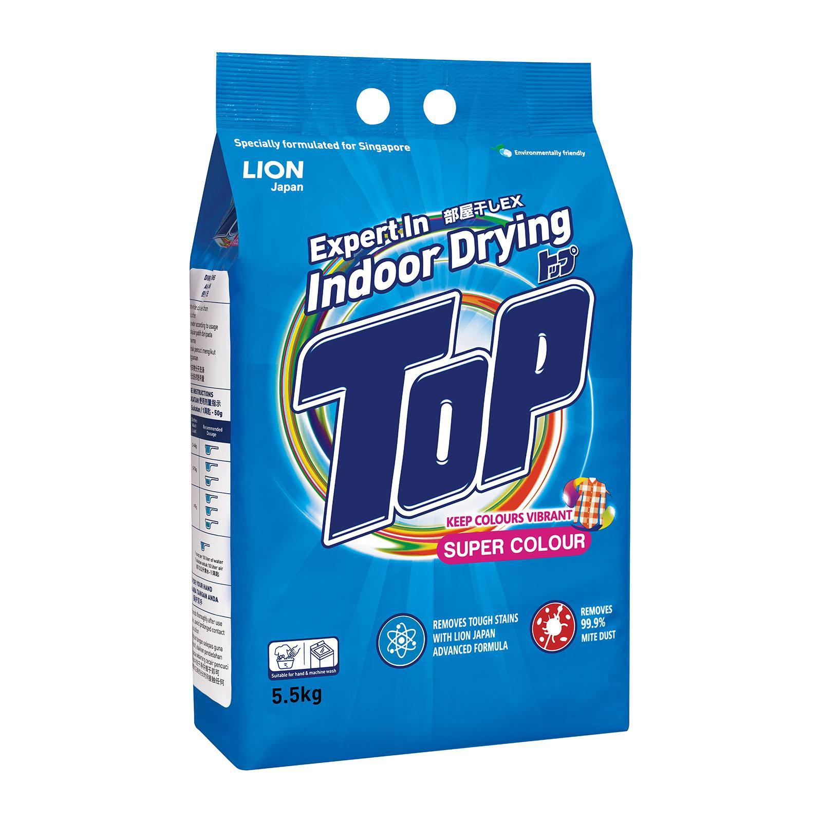 TOP Powder Detergent - Super Colour 5.5kg
