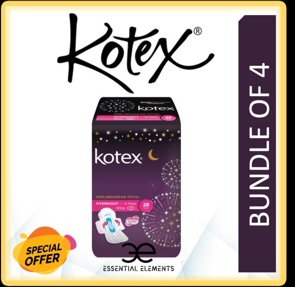 Buy KOTEX [BUNDLE OF 4] SANITARY PAD Overnight Wing 28cm Over Night Wing Singapore