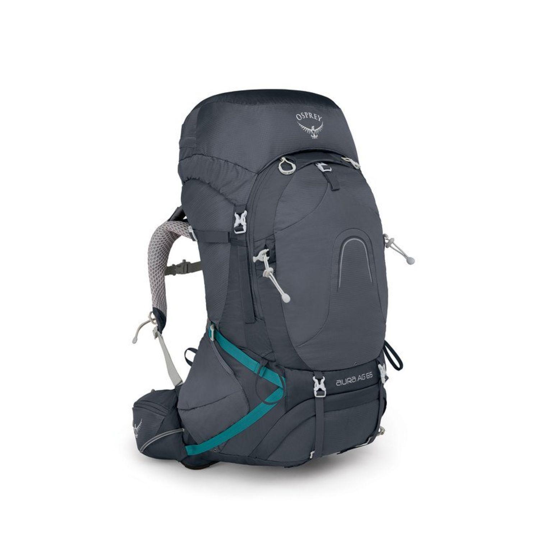 Osprey Aura Ag 65 Backpack With Raincover Women Medium - Vestal Grey