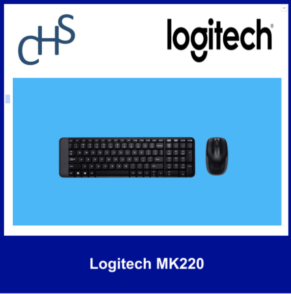 (Original) Logitech MK220 | Long Battery Life |2.4 GHZ Wireless | Minimalist and Simple | 3 years warranty Singapore