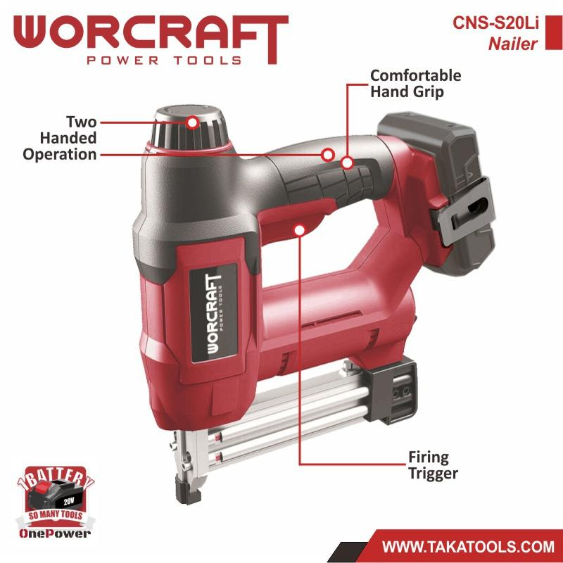 Worcraft OnePower Cordless Battery Nailer