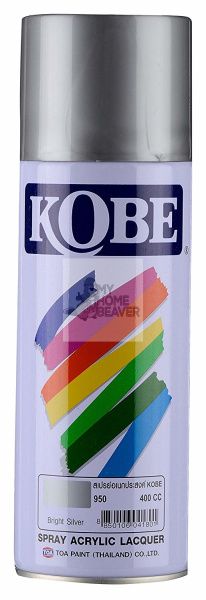 Kobe Good Adhesion Quick Dry Durable 400 ml Acrylic Lacquer Spray Paint [Bright Silver 950]