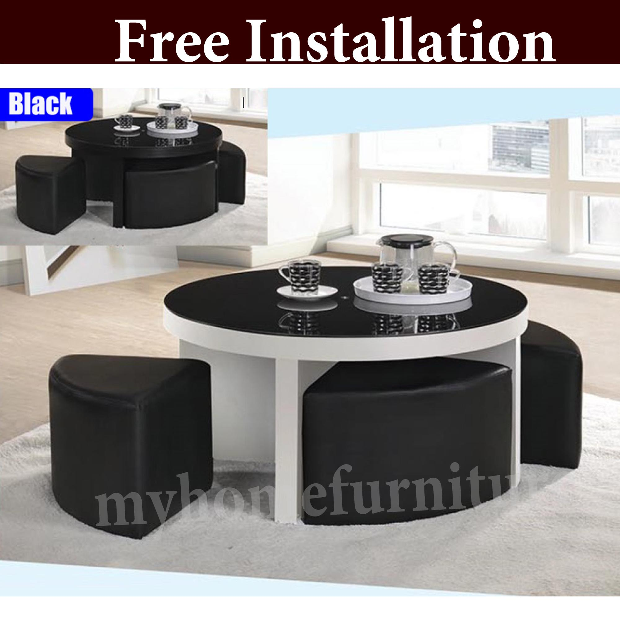 Kenrina Coffee Table With Stool (Free Delivery and Installation)