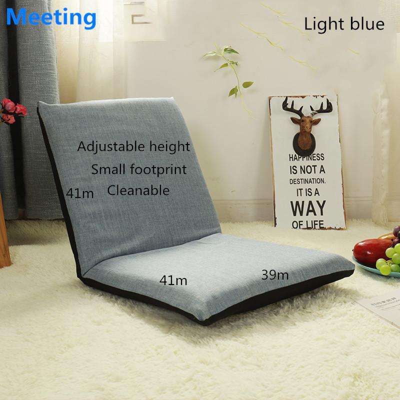 Adjustable Folding Lazy Sofa Bed Tatami Sofa Chair Window Back Seat Computer Cushion Chair (41cm*41cm*39cm)