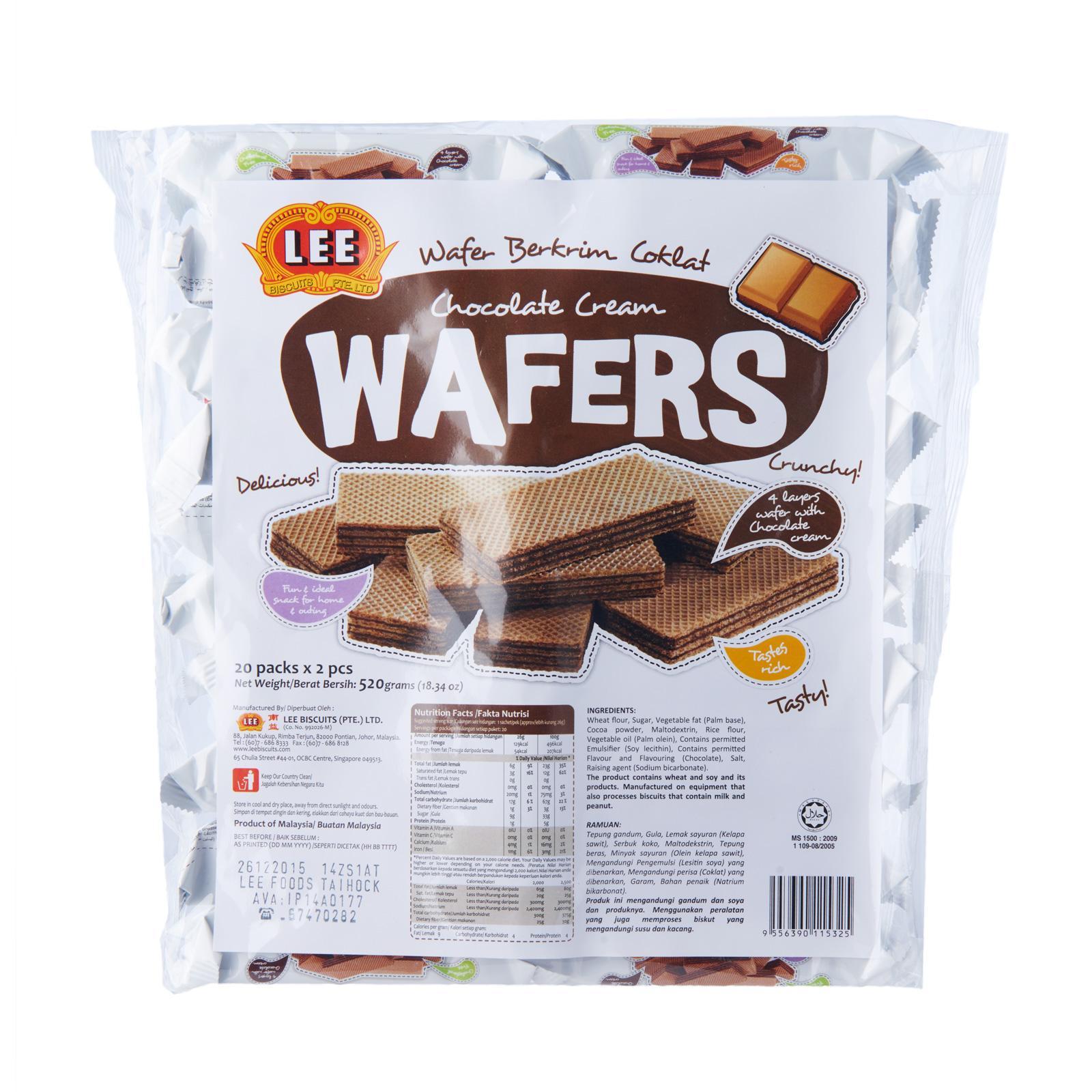Lee Chocolate Cream Wafers 520G