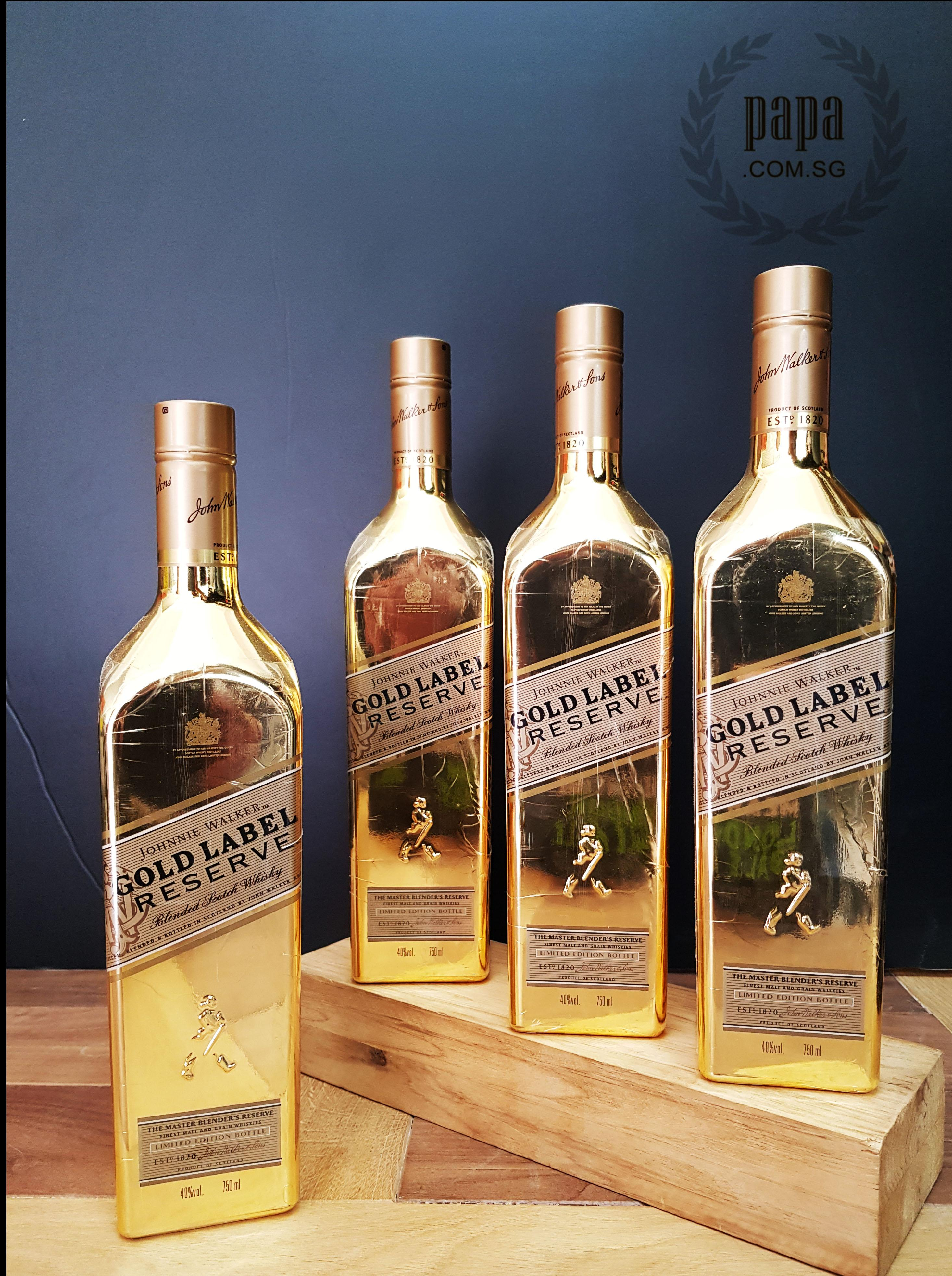 Johnny Walker Gold Bullion - Limited Edition Special Offer With Special Surprise Gifts By Papa.