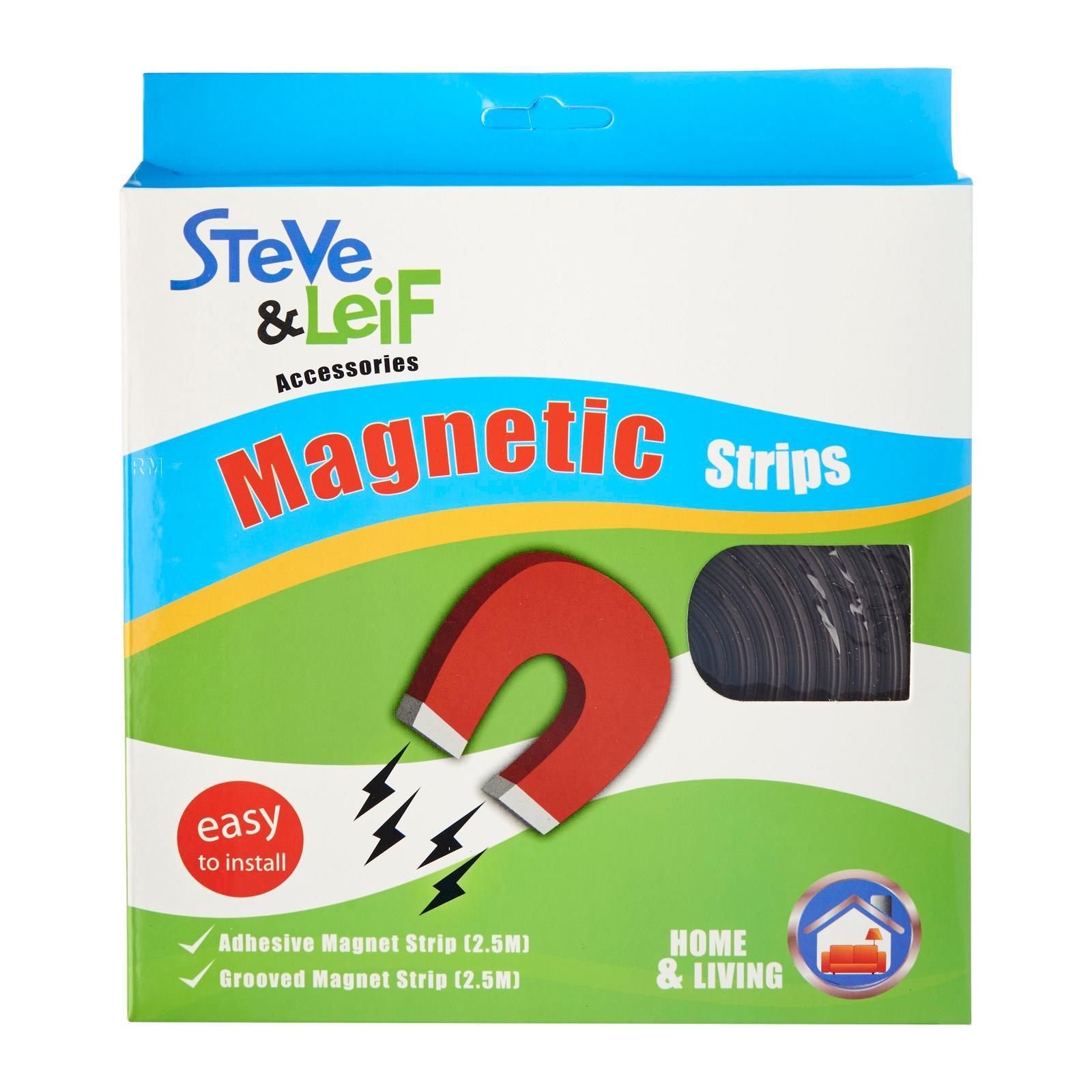Steve & Leif DIY Mosquito Net Adhesive And Grooved Magnetic Strips DIY