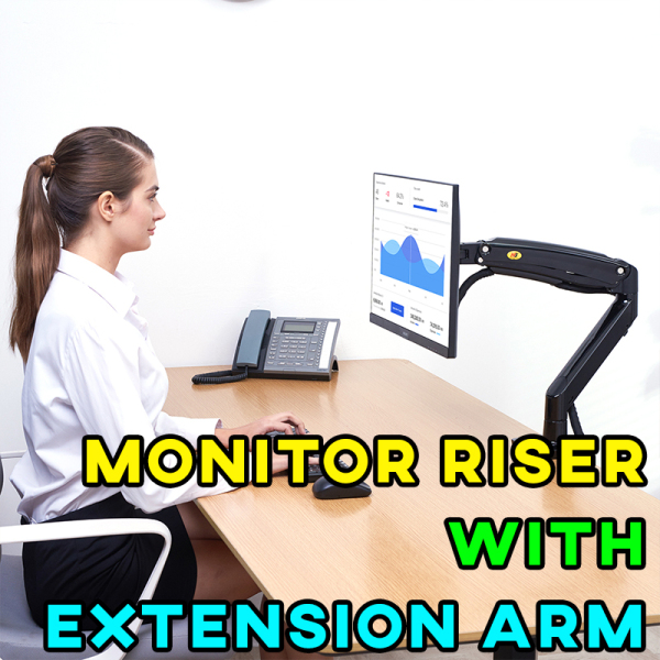 [SG INSTOCK] Monitor Riser with Extension Arm Single or Dual Screen Desk Mount Support Holder
