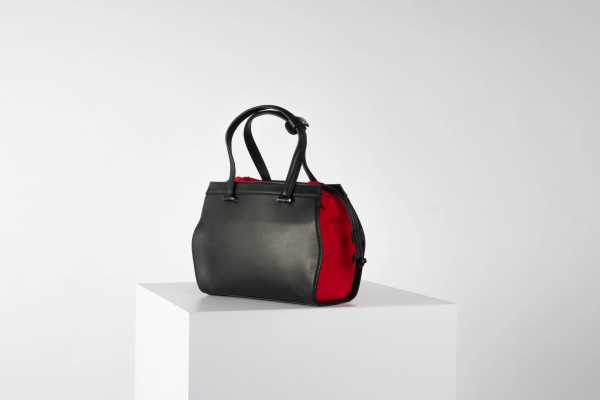 Gusset bag (red interior)