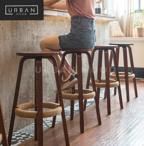[Pre-Order] COHEN Rustic Round Bar Stool