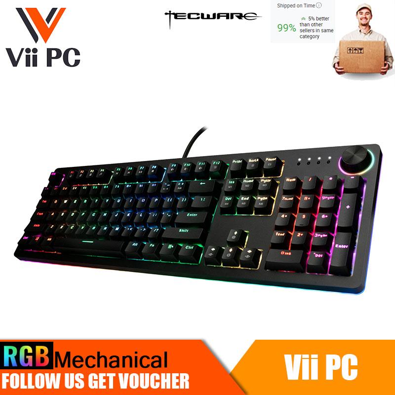 Tecware Spectre Pro, RGB Mechanical Keyboard w/ Underglow 104-Key (3 Switch Options)