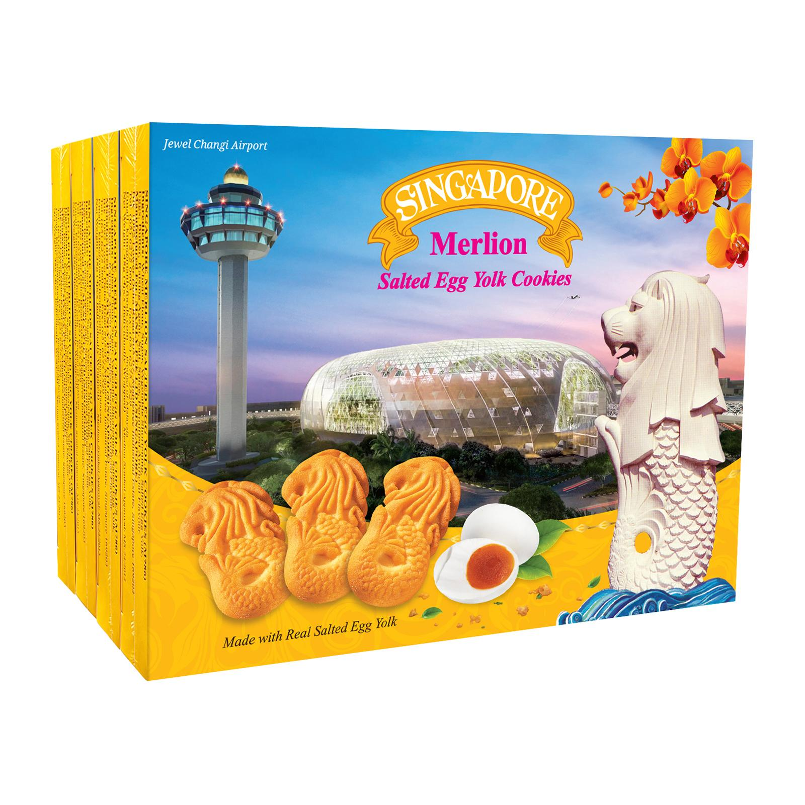 Manly (4 in 1) Merlion Salted Egg Yolk Cookies