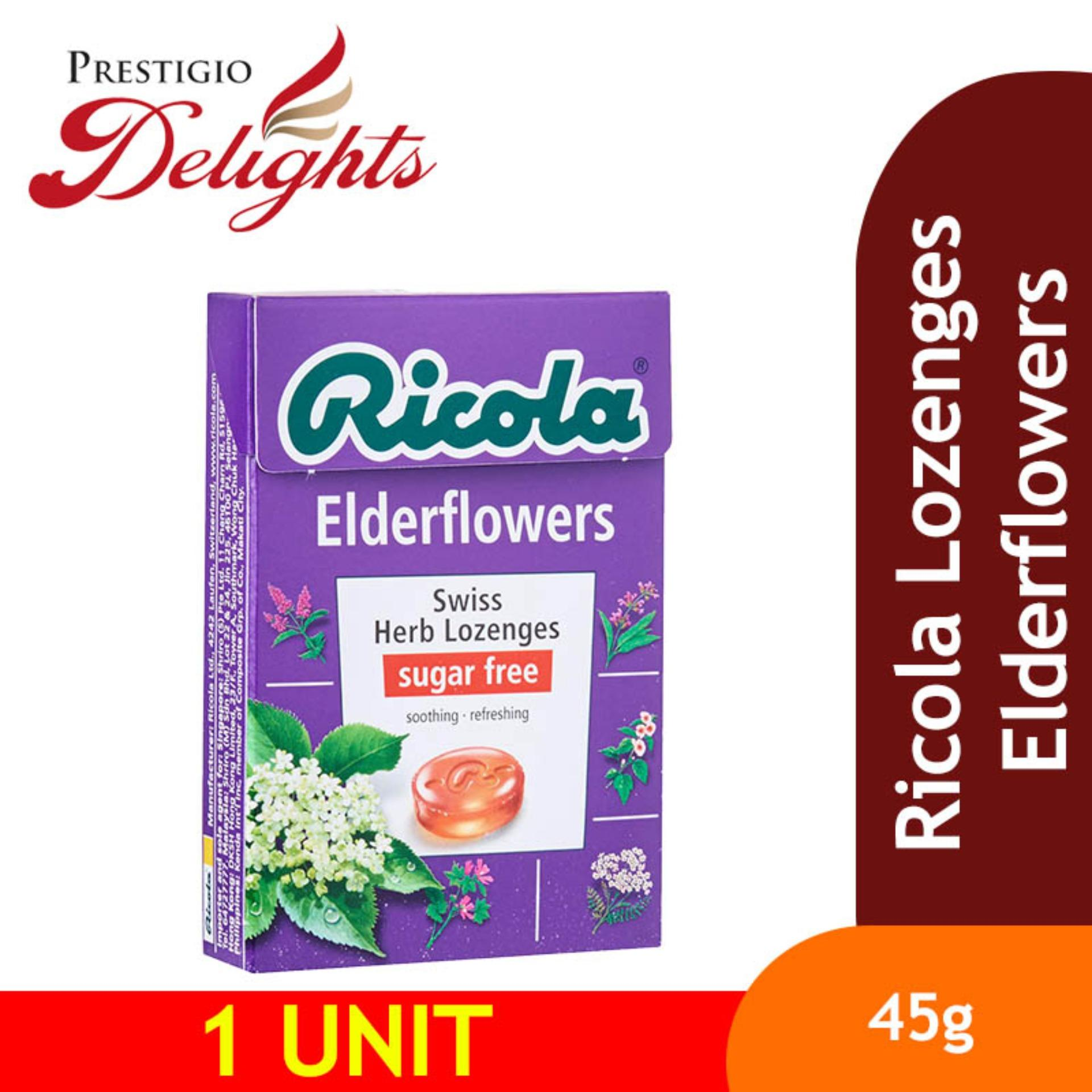 Ricola Lozenges Elderflowers 45g By Prestigio Delights.