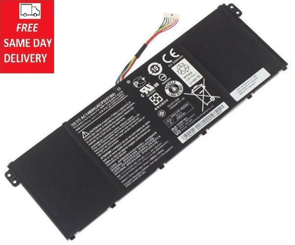 [Same Day Delivery][SG Seller] Replacement Laptop Grade A Cells Battery AC14B8K-4S1P Compatible with A515-41G-18Z3, 5 A515-51-37KC, 5 A515-51G-51R, 7 A715-72G-57R2, 7 A717-71G-56SC, E5-721-26DA, E5-721-47GE, E5-731