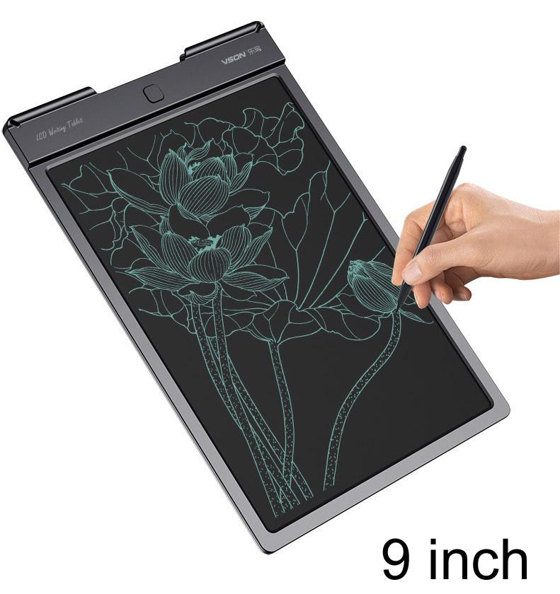 Drawing Board & Writing Tablet Vson 9Inch/ 13inch Bright LCD Digital Tablet Handwriting Pads E-Note Paperless Boards