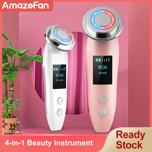 Buy AmazeFan Electric Hot Face Massager Vibrator V Face Lift Machine rf Facial Machine Face Lift Beauty Device White Heads and Mole Warts Pimple Pores Remover Deeply Clean Face Skin Make Up Set Facial Brush Cleanser Singapore
