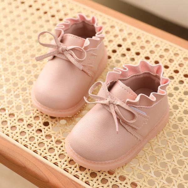 Giày Đi Bộ Trẻ Em Chống Trượt Đế Mềm Mùa Xuân Thu Đông Giày Trẻ Em Nữ Công Chúa 0-2 Tuổi Giày Một Lớp Trẻ Em Giày Da 6-18 Tháng giá rẻ