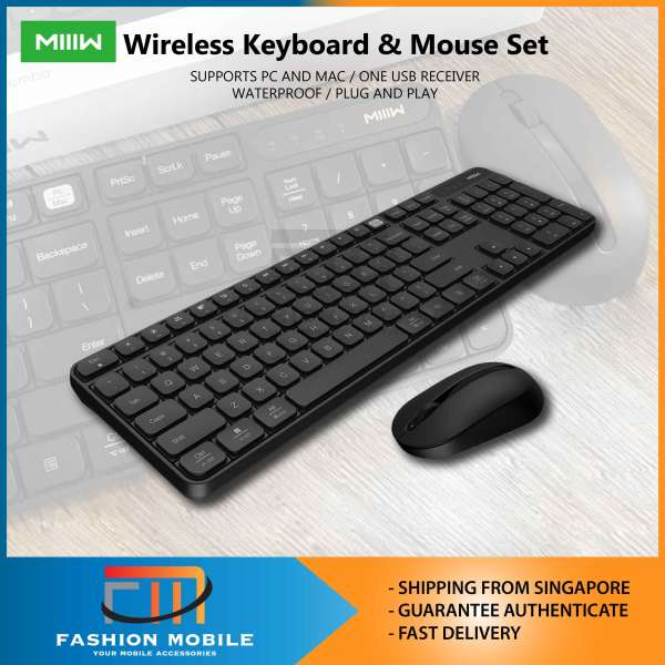 Xiaomi MIIIW Wireless Keyboard and Mouse Set Combo Set Windows Mac Compatible Dual Mode 104 Keys 2.4Ghz Office Home
