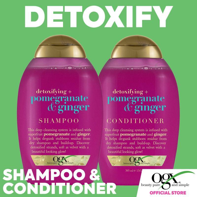 Buy What Hair Wants - Detoxify & Clarify Bundle OGX Pomegranate Ginger Shampoo + Conditioner Singapore