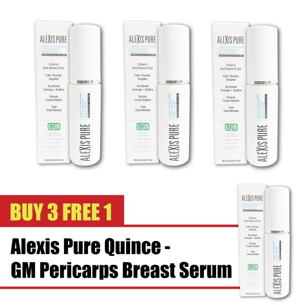 Buy Buy 3 Free 1 Alexis Pure Quince-GM Pericarps Natural Augmentation Curves for Women: 100% Natural Permanent Breast Size Enhancement For Fuller Larger Breasts Without Surgery. Herbal + Plant Based Bust, Breast, Chest Augmentation Alternative  -50ml Singapore