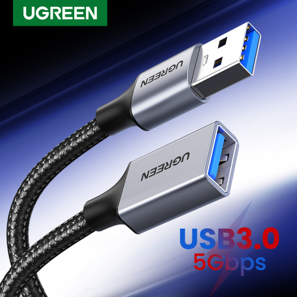 UGREEN 1M/2M USB 3.0 Male to Female Extension Cable  USB 3.0 Extender Cord Type A Male to Female Data Transfer Lead for Playstation Xbox Oculus VR USB Flash Drive Card Reader Hard Drive Keyboard Printer Camera