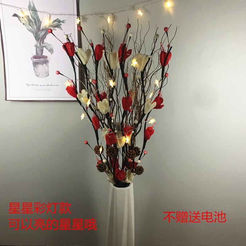 Floor dry flower arrangement decoration