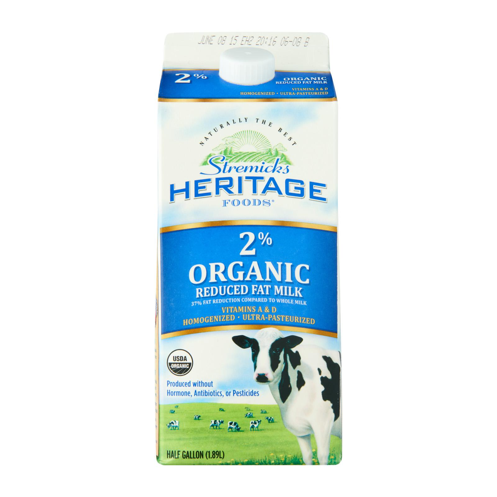 Stremicks Heritage Organic Milk Reduced Fat By Redmart.