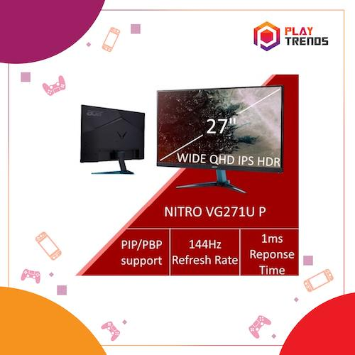 Acer Nitro VG271U P 27inch Wide QHD IPS FreeSync Monitor 144Hz Refresh Rate & 1ms Response Time by PlayTrends