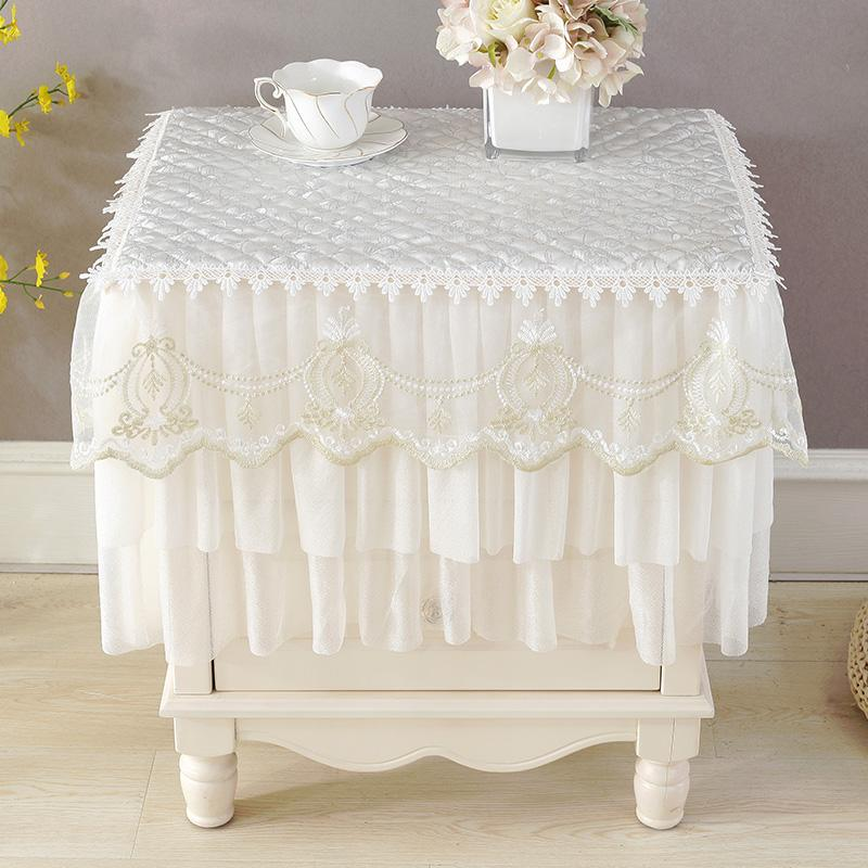 Multi-Purpose gai jin Bedside Table Cover Fabric Small Tablecloth Air Conditioner Cover Refrigerator Cover Dustproof Washing Machine gai jin Cloth