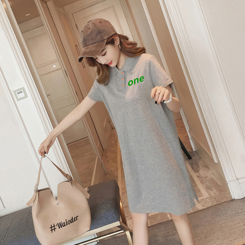 Phiên Bản Hàn Quốc Học Sinh Nhỏ Đầm Nữ Giống Nàng Tiên Khí Chất Bó Eo Tôn Dáng Kiểu Lửng Thiếu Nữ Váy T-Shirt Trẻ Em Mùa Hè