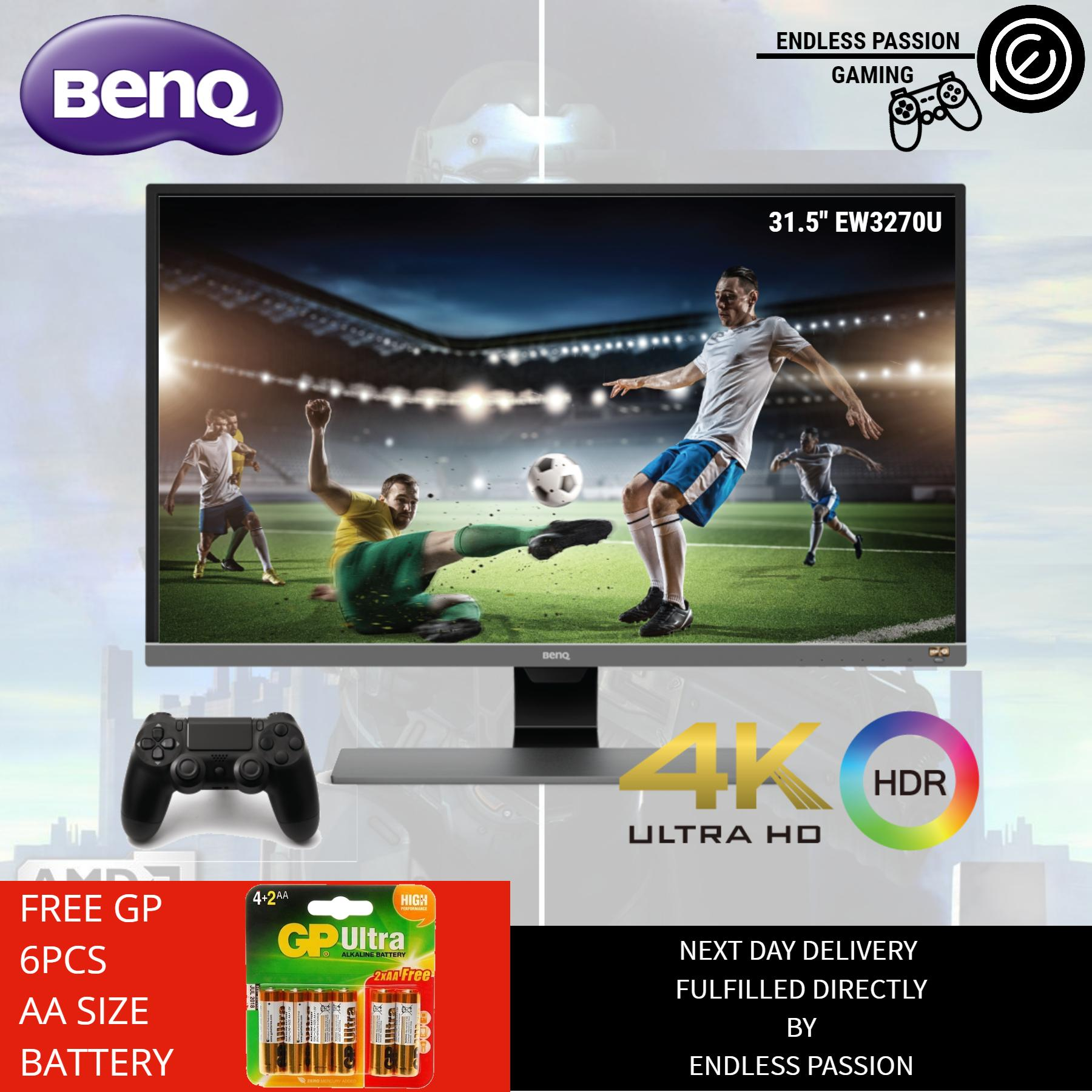 BenQ EW3270U 31.5 4K HDR Monitor, 10 Bit, Brightness Intelligence Plus, Eye Care, USB Type-C, HDMI