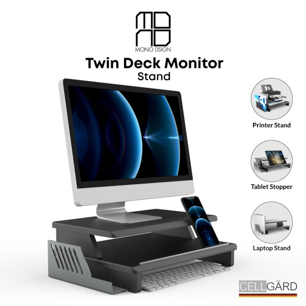 Mono Dsign Twin Deck Monitor Stand