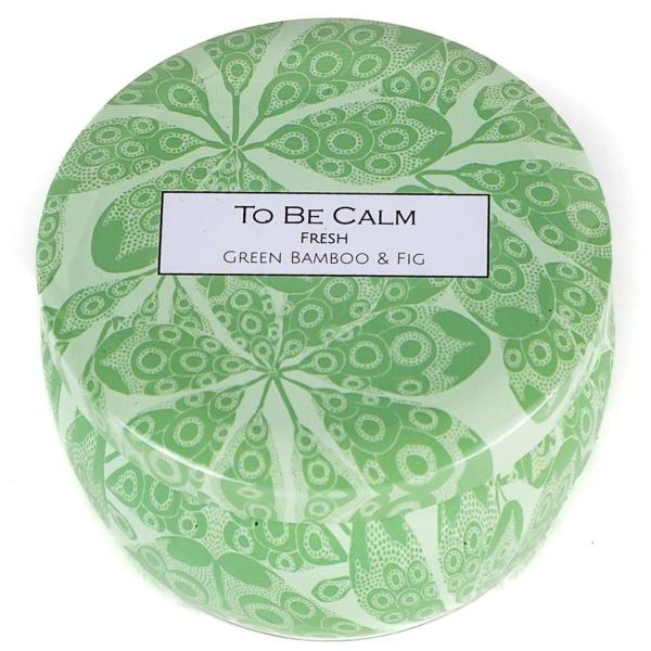 To Be Calm Fresh - Green Bamboo & Fig - Mini Soy Candle