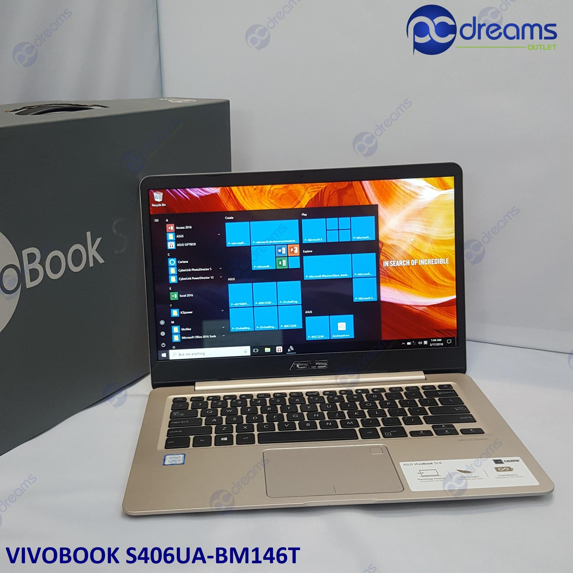 ASUS VIVOBOOK S406UA-BM146T i5-8250U/8GB/256GB SSD/14.0 FHD IPS [Premium Refreshed]