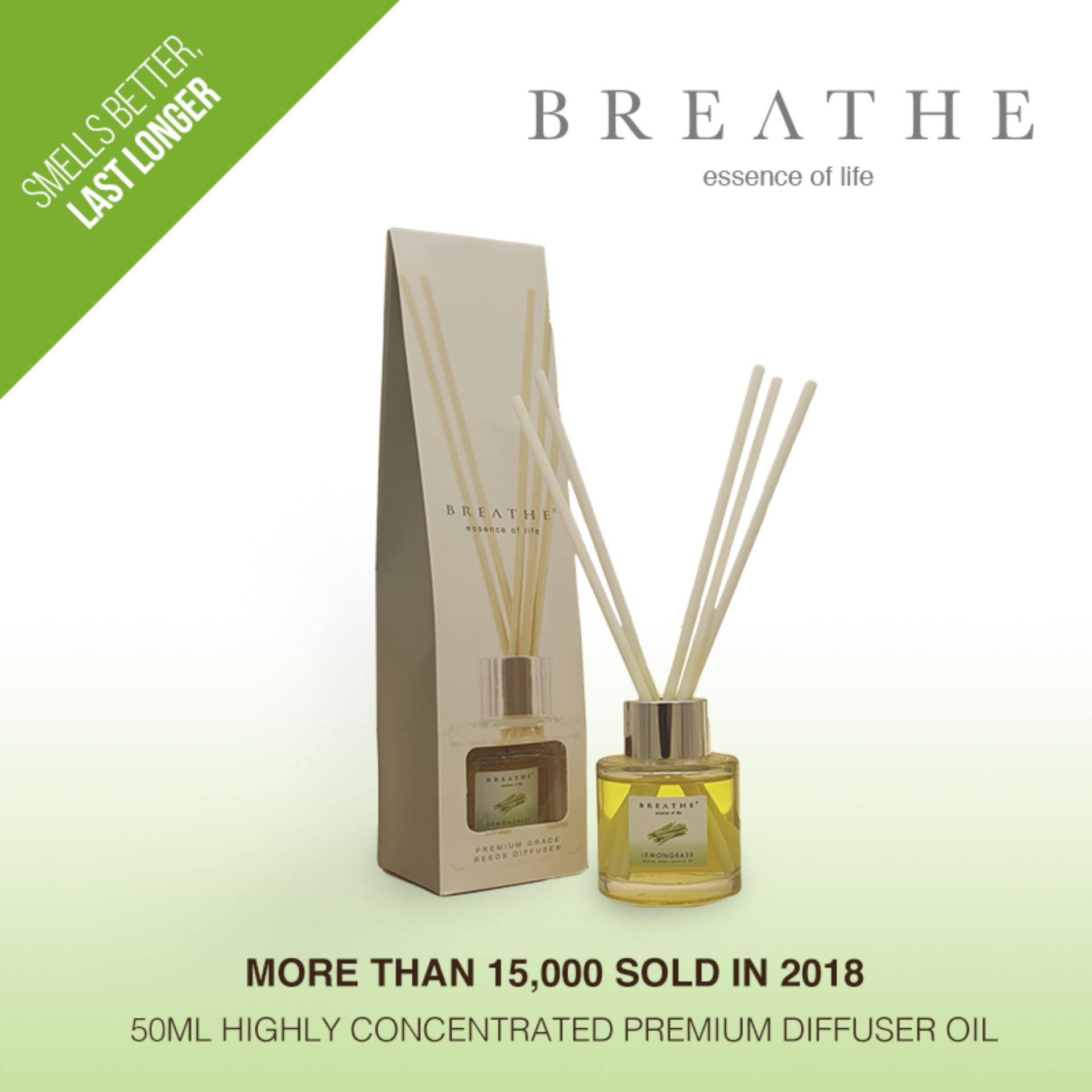 Lemongrass Reeds Diffuser By Breathe.