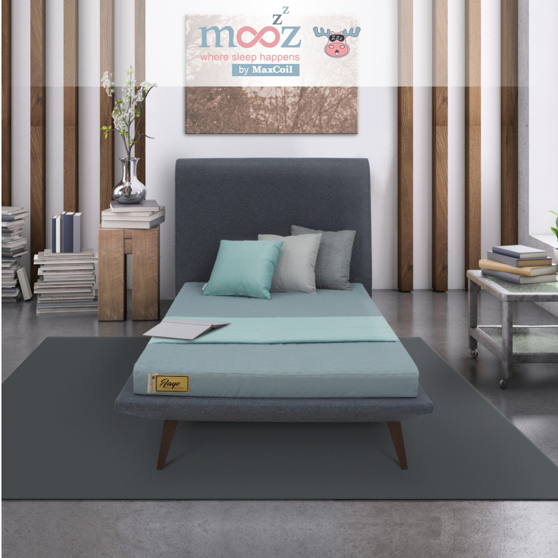 mooZzz Faye 2inch and 3inch Foam Mattress | Available in Single, Super Single, Queen and King
