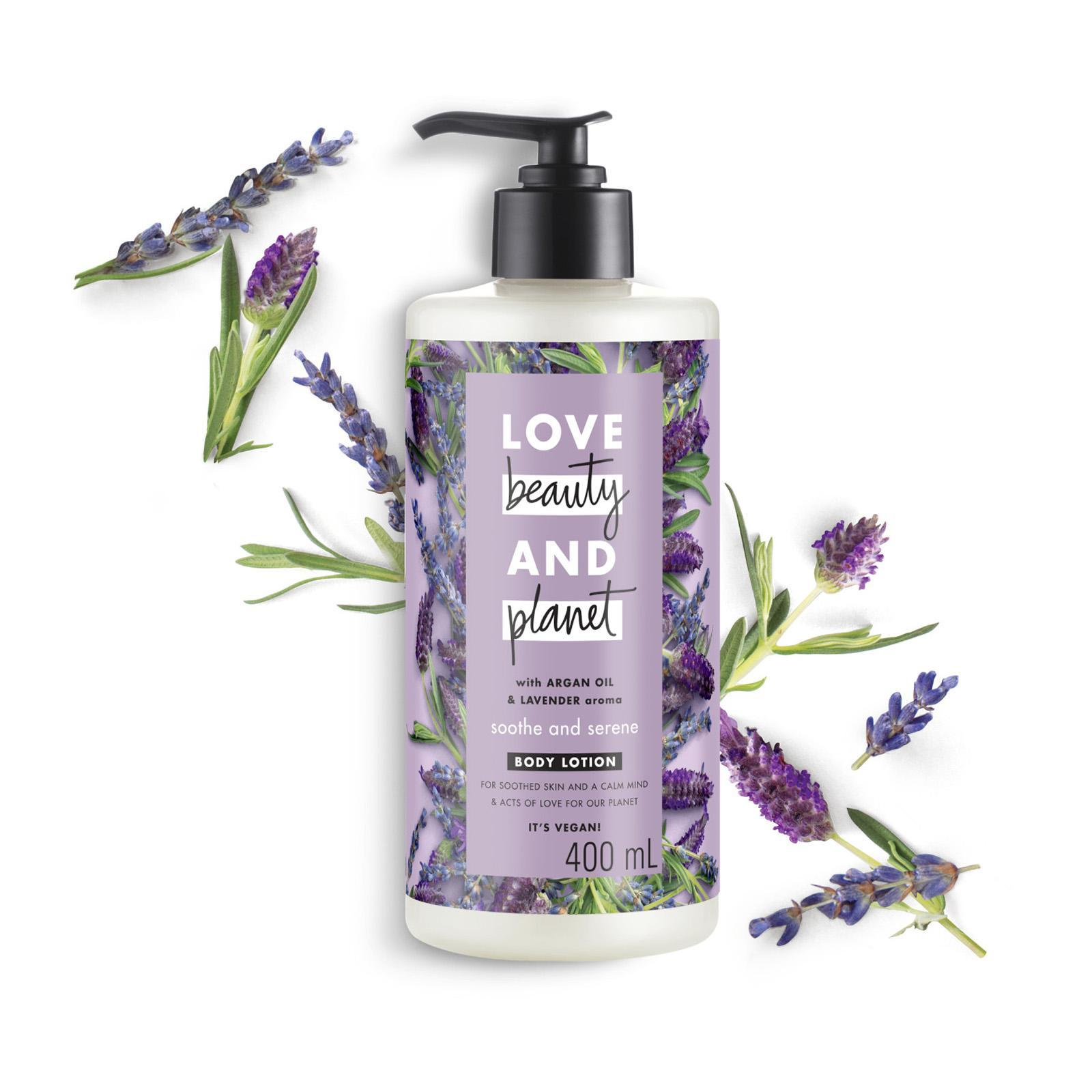 Love Beauty & Planet Vegan Body Lotion Argan Oil and Lavender Soothe and Serene