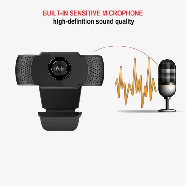 1080P Webcam with Dual Mic for stereo sound effect, local seller with current stocks