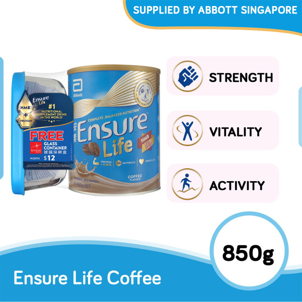 Buy Ensure Life Coffee 850g with free Bormioli Rocco Glass Container worth $12 Singapore
