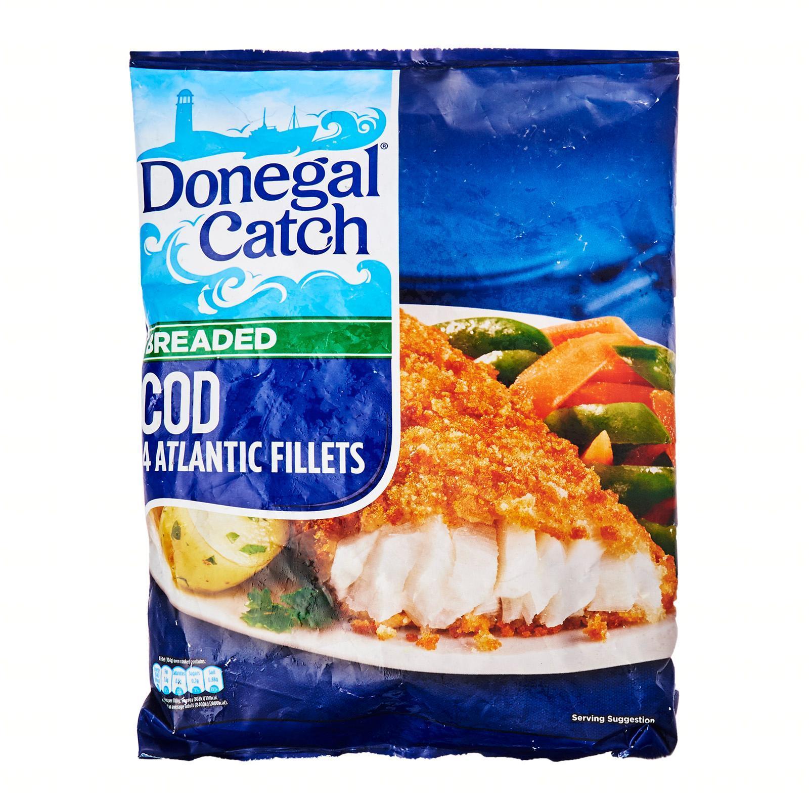 Donegal Catch 4 Breaded Atlantic Cod Fillets - Frozen