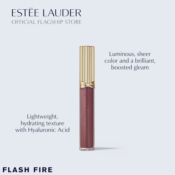 Buy [Holiday Special] Estee Lauder Pure Color Envy Kissable Lip Shine in Flash Fire - Lip Gloss, 2.7ml + Limited Edition Bag (worth $18) Singapore