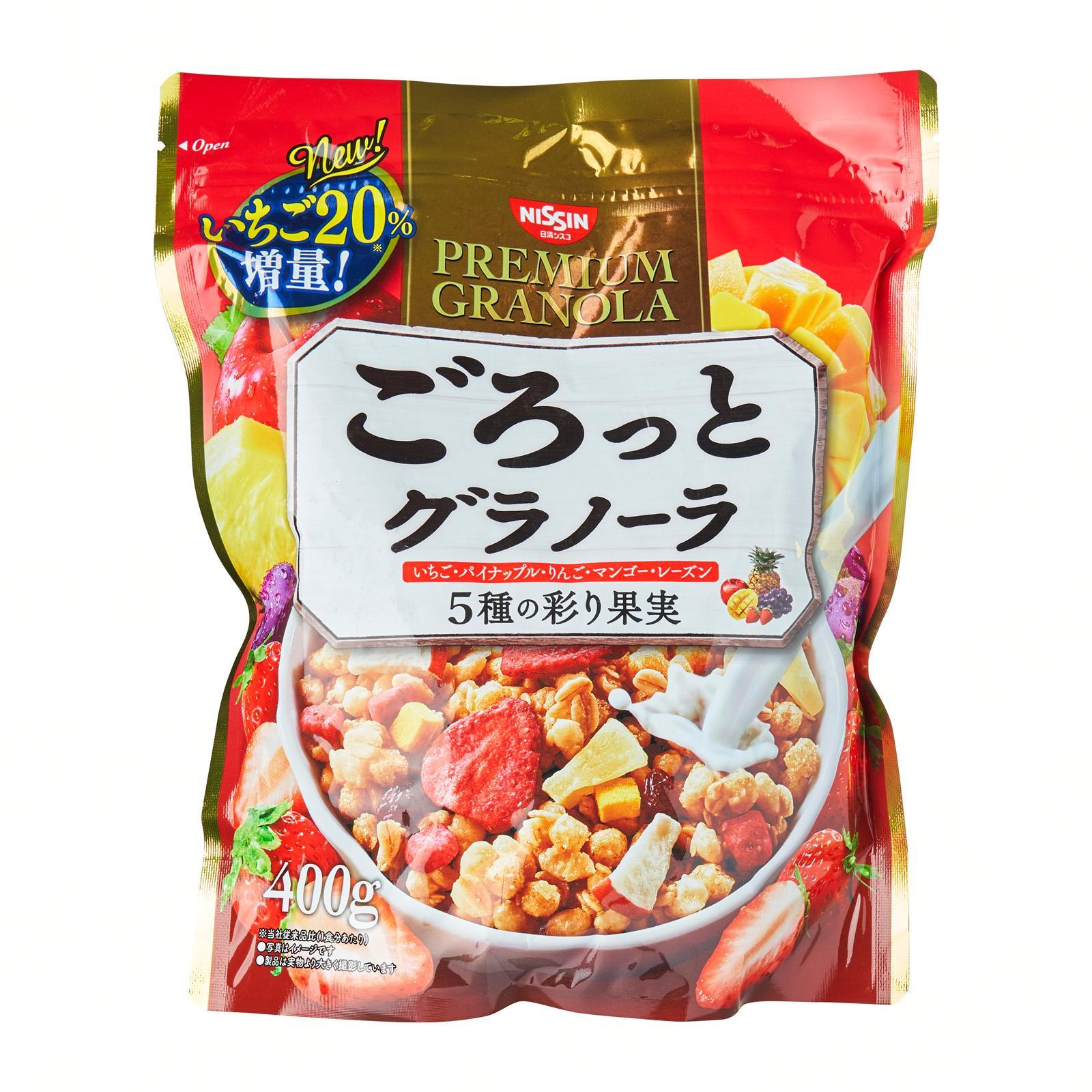 Nissin Gorotto 5 Kinds Of Fruits Breakfast Granola