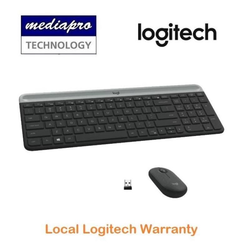 Logitech MK470 Slim, Compact and Quiet Wireless Keyboard and Mouse Combo Graphite - Local Logitech Warranty Singapore