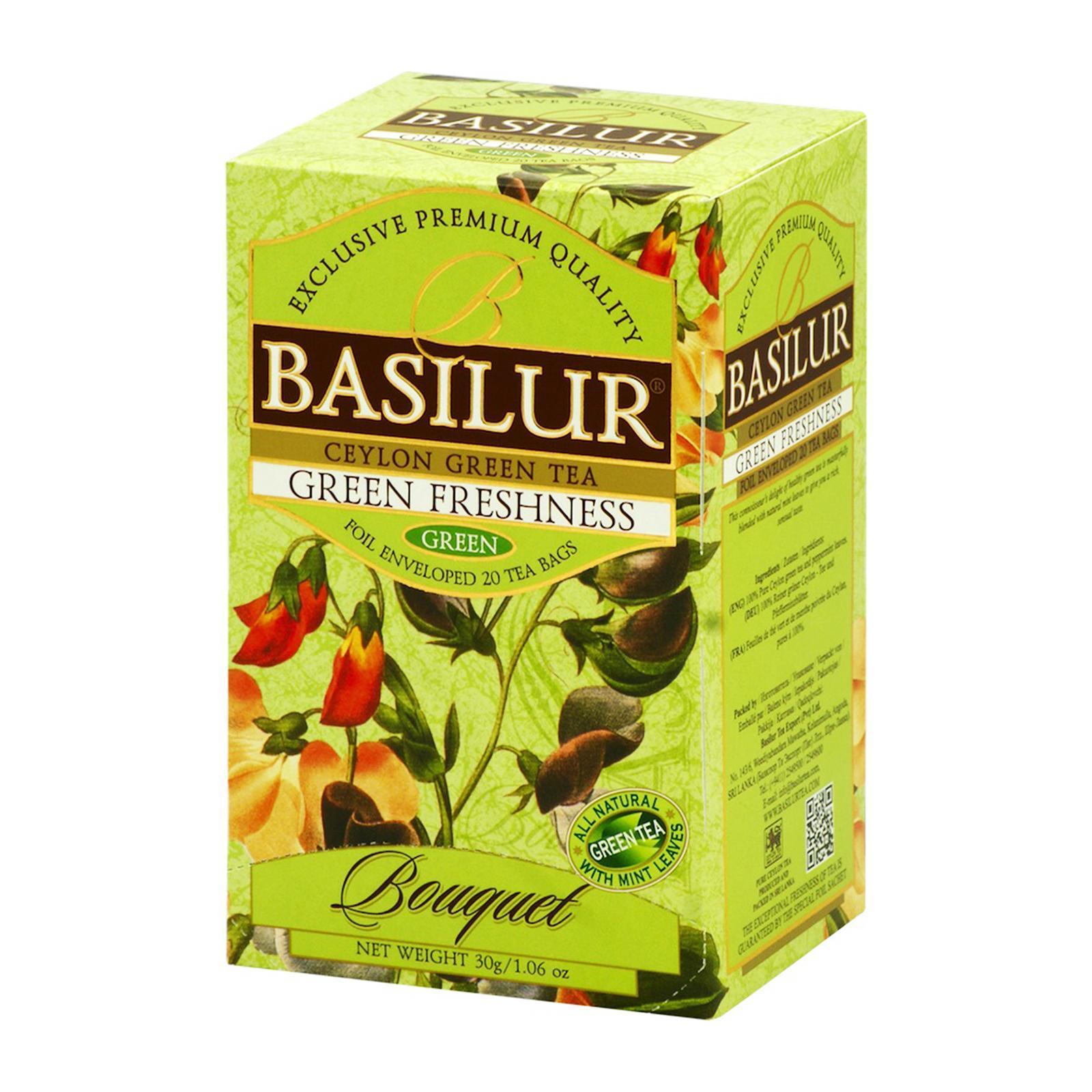 Basilur Tea Mint Green Tea By Redmart.