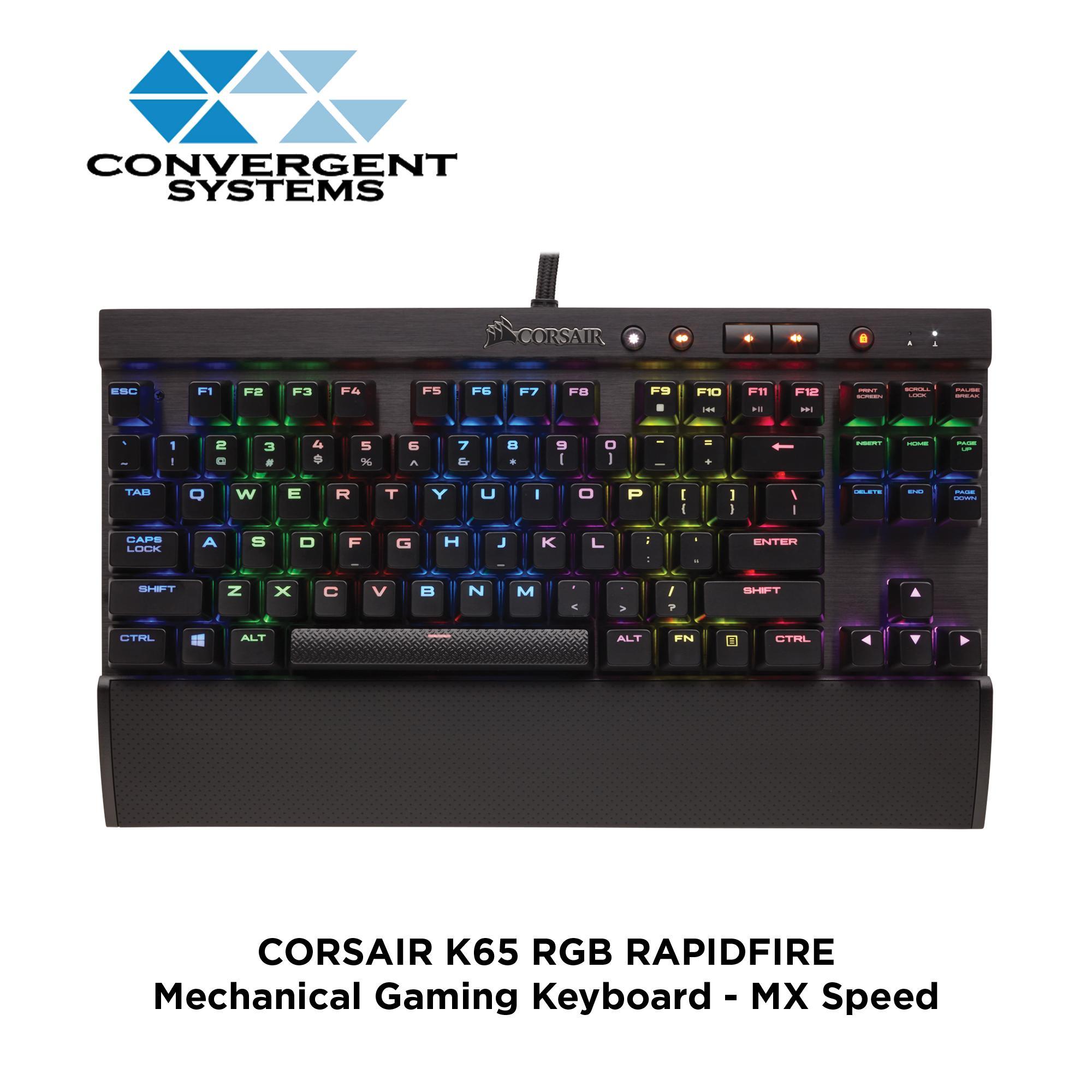 CORSAIR K65 RAPIDFIRE RGB Compact Mechanical Gaming Keyboard - Cherry MX Speed RGB Singapore