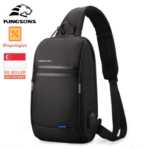 KINGSONS Chest Bag Travel Sling Shoulder Bag USB Charging Waterproof Crossbody Bag *Free Shipping*