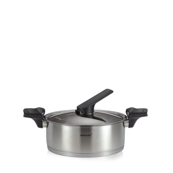 Happycall 24cm Stainless Steel Induction Heat Vacuum Low Stock Pot 3003-1143 Singapore