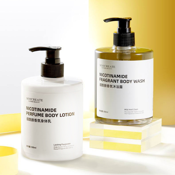 Buy [SG Ready Stock] Maycreate Nicotinamide Body Shower Gel & Body Lotion Set | Perfumed Shower Gel and Body Lotion Singapore