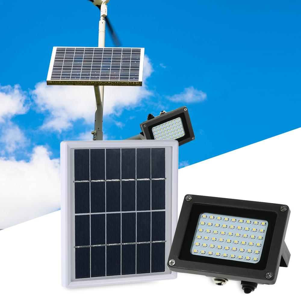 【Flash Deal】Solar Powered Floodlight 54 LED Solar Lights IP65 Waterproof Outdoor Security Lights for Home, Garden, Lawn